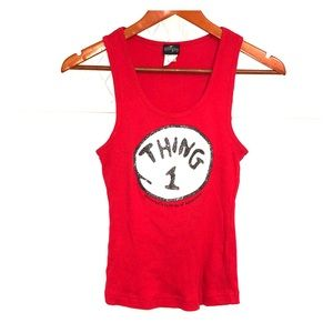 UNIVERSAL STUDIOS Cat in the Hat Thing 1 Tank Top